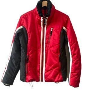 Obermeyer Red Black and White Ski Jacket